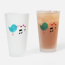 Singing Blue Bird Drinking Glass