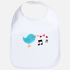 Singing Blue Bird Bib