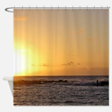 Paradise Surfing Shower Curtain
