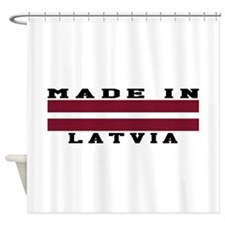 Latvia Made In Shower Curtain