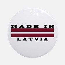 Latvia Made In Ornament (Round)