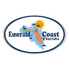 Emerald Coast - Surf Design. Decal