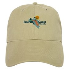 Emerald Coast - Surf Design. Baseball Cap