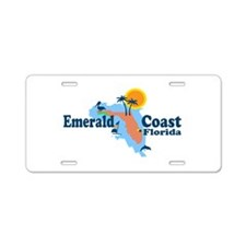 Emerald Coast - Surf Design. Aluminum License Plat