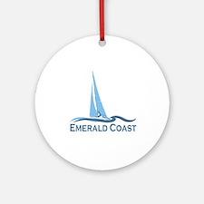 Emerald Coast - Sailing Design. Ornament (Round)