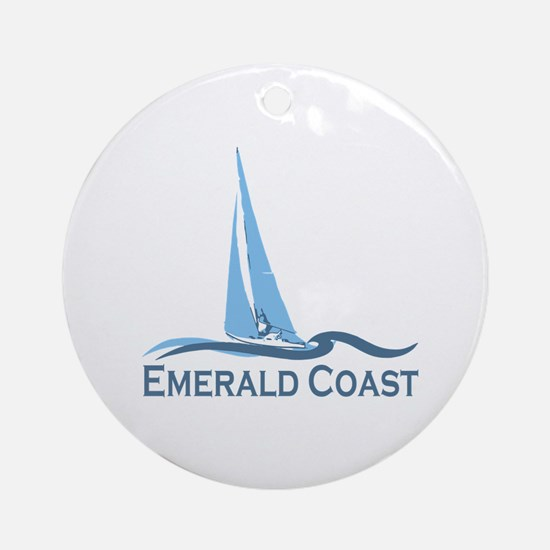 Emerald Coast - Sailing Design. Ornament (Round)