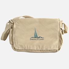 Emerald Coast - Sailing Design. Messenger Bag