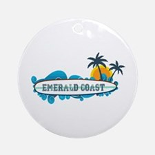 Emerald Coast - Surf Design. Ornament (Round)