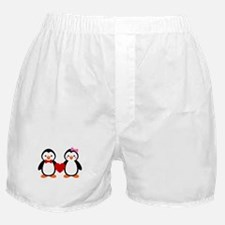 Cute Penguin Couple Boxer Shorts