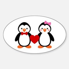 Cute Penguin Couple Bumper Stickers