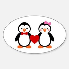 Cute Penguin Couple Decal
