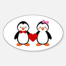 Cute Penguin Couple Stickers