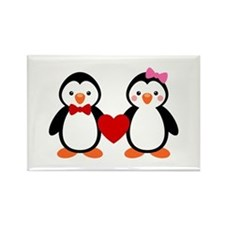 Cute Penguin Couple Rectangle Magnet