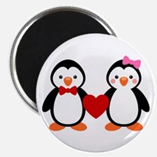 Cute Penguin Couple Magnet