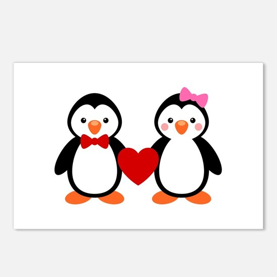Cute Penguin Couple Postcards (Package of 8)