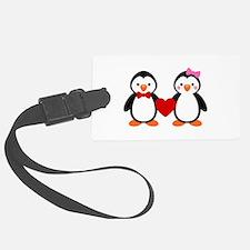 Cute Penguin Couple Luggage Tag