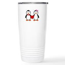 Cute Penguin Couple Travel Mug
