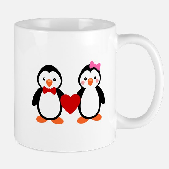 Cute Penguin Couple Mug