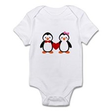 Cute Penguin Couple Body Suit