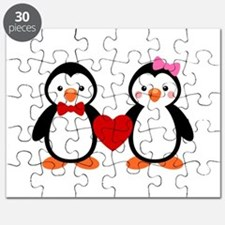 Cute Penguin Couple Puzzle