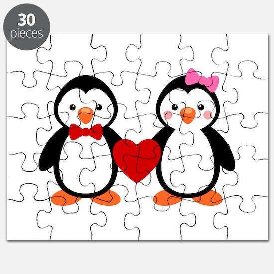 Cute Penguin Couple Puzzle