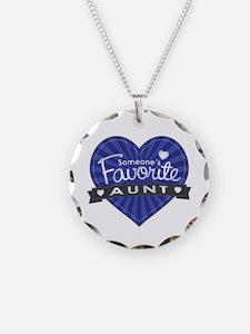 Favorite Aunt Blue Necklace