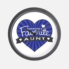 Favorite Aunt Blue Wall Clock