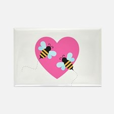 Cute Honey Bees Rectangle Magnet