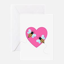 Cute Honey Bees Greeting Card