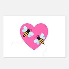 Cute Honey Bees Postcards (Package of 8)