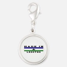 Lesotho Made In Silver Round Charm