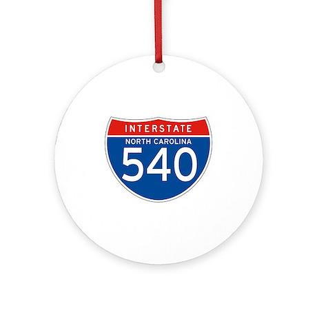 Interstate 540 - NC Ornament (Round)