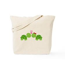 Turtles in Love Tote Bag