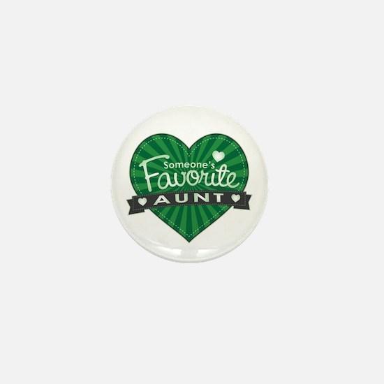 Favorite Aunt Green Mini Button