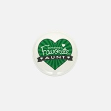 Favorite Aunt Green Mini Button (10 pack)