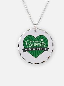 Favorite Aunt Green Necklace