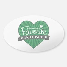 Favorite Aunt Green Decal