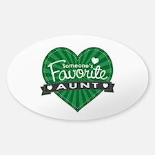 Favorite Aunt Green Sticker (Oval)