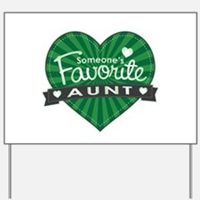 Favorite Aunt Green Yard Sign