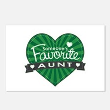 Favorite Aunt Green Postcards (Package of 8)