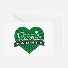 Favorite Aunt Green Greeting Card