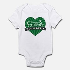 Favorite Aunt Green Infant Bodysuit