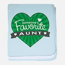 Favorite Aunt Green baby blanket