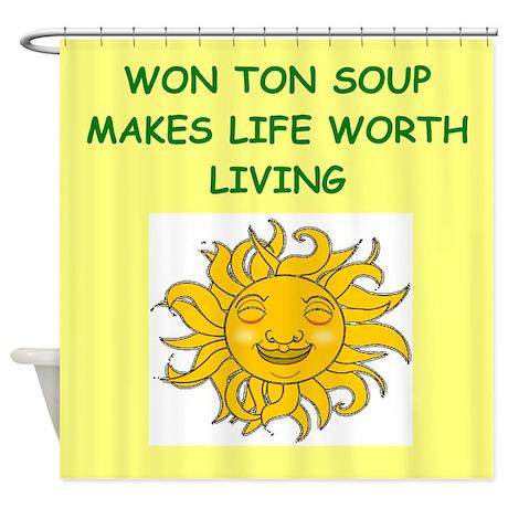 WONTON Shower Curtain