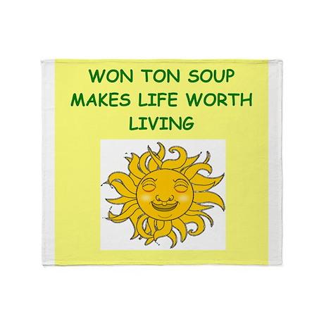 WONTON Throw Blanket