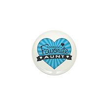 Favorite Aunt Blue Mini Button (10 pack)