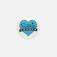 Favorite Aunt Blue Mini Button (10 pack)