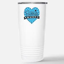 Favorite Aunt Blue Travel Mug