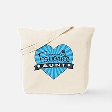 Favorite Aunt Blue Tote Bag
