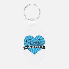 Favorite Aunt Blue Keychains